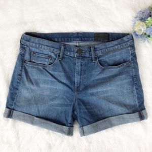Vince Relaxed Rolled Up Jean Shorts Size 29